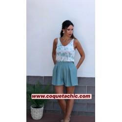 Top Tie Dye turquesa