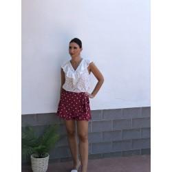 Falda/pantalón  Coria Granate