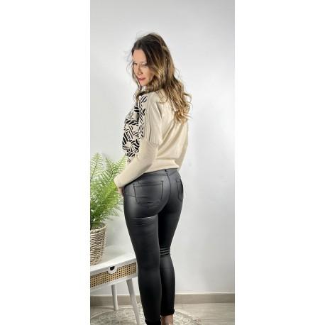 Jeans Encerado Negro