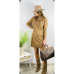 Vestido Natalie Camel
