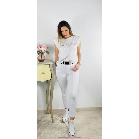 Camiseta Vogue blanca