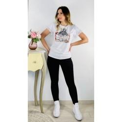 Camiseta Cebra Blanca