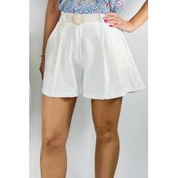 Short Pinzas Blanco