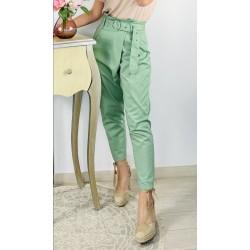 Pantalón Slouchy Cruzado Verde