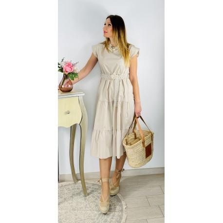 Vestido Adriana Beige