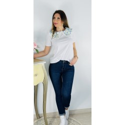 Camiseta Sofia Celeste